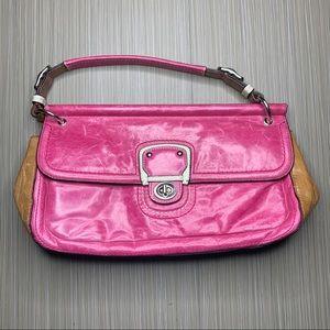 Coach Pink Colorblock City Willis Handbag Purse